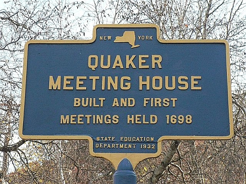 Jestem kwakrem - Quaker Meeting House – historyczna tablica informacyjna
