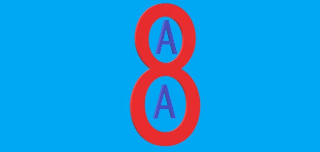 osiem zasad AA